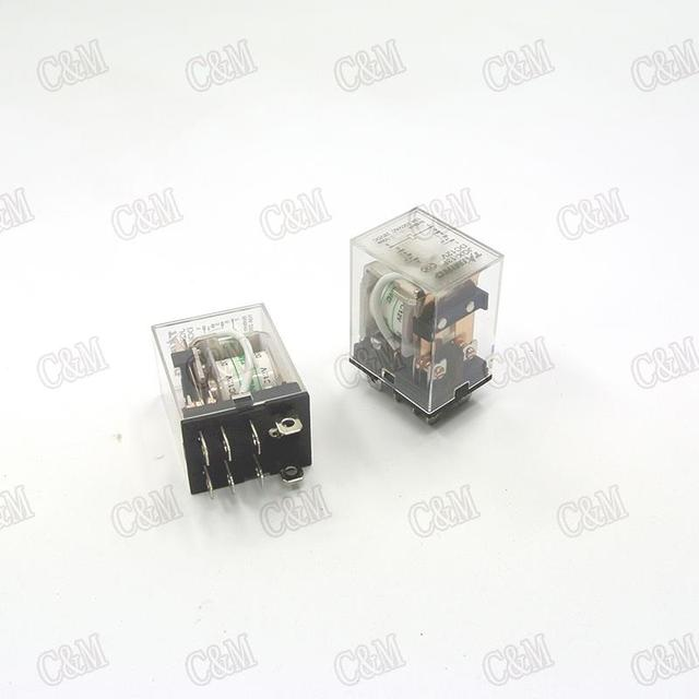 Coil Power Relay 48V DC Miniature Relay DPDT 8 Pins 10A 240VAC JQX
