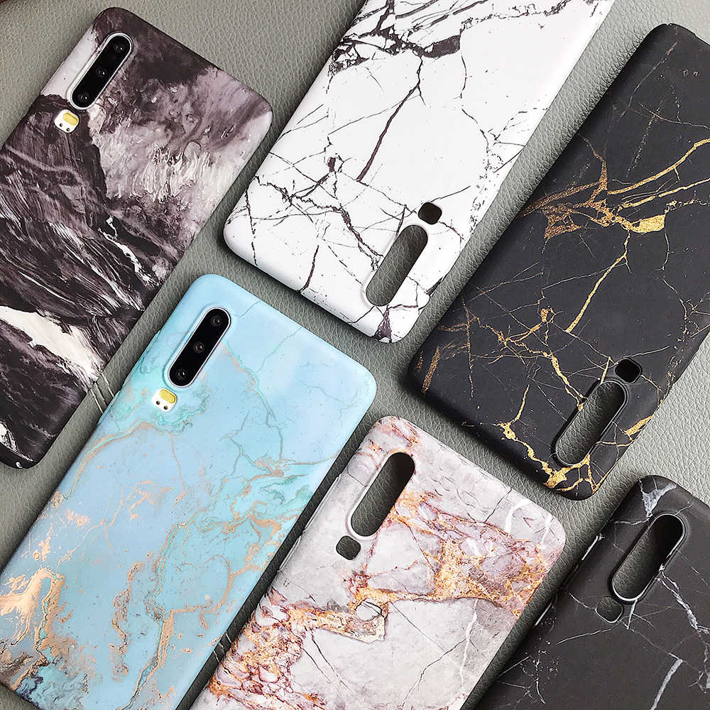 LOVECOM Classical Cracked Marble For Huawei P20 P30 Pro Lite Mate 20 Pro Honor 10 Lite P Smart 2019 Full Body Hard PC Back Cover