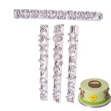 4pcs/set Russian Letters Cake Mold Cake Decorating Tools Alphabets Fondant Letter Cutters Cake Molds Embosser Sugar Craft fondant cake decorating sugar craft making wheel embosser cutter tool set white