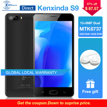 Original Kenxinda S9 HD 5.5 inch 5000mAh 13+8.0MP Dual Back Cameras 4G Android7.0 Smartphone 16GB ROM Mobile Phones +Earphone