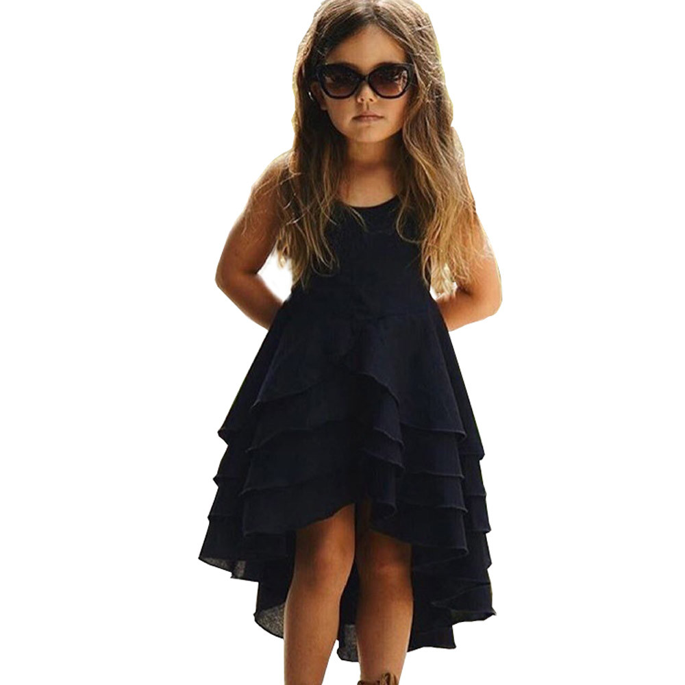 2 Colors Hot Cute Newborn Infant Baby Girl Solid Sleeveless Fold Dress Outfits Clothes High Quality Dropshipping AG30 16