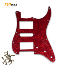 Pleroo Guitar parts Pickguard with 11 Screws for Fender Stratocaster guitar USA/Mexican ST HSH PAF humbucker