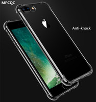 MPCQC Anti Knock Case For iPhone X 6 7 8 5s Coque for iPhone 6s Fundas Clear Back Silicon Phone Cases for iPhone 6 8 7 Plus Capa