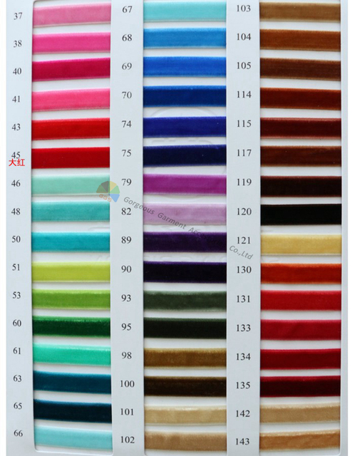 3 6 9 12 15 20 25 30 40 50 65 75mm Single Faced Non-Elastic Velvet Ribbon Velour Ribbon 12 Sizes 240 Colors 1 piece pick 1 color