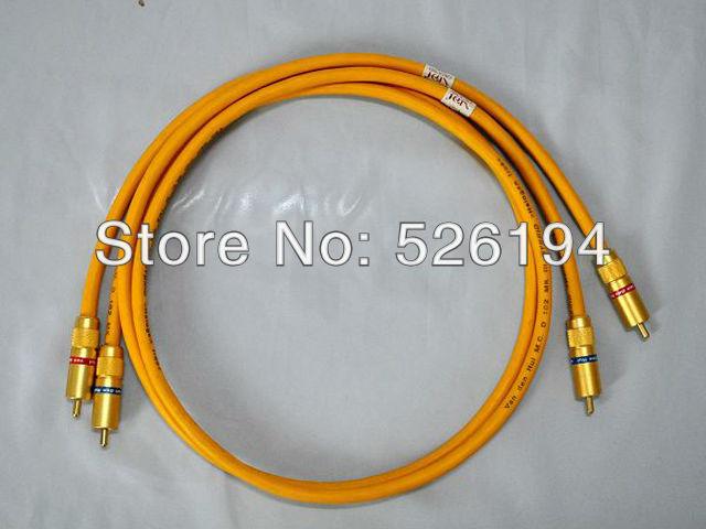 Free shipping pair Van Den Hul The D-102 III HYBRID (Halogen F) Audio Cable with Gold plated RCA jack van den hul teatrack hybrid bi wire