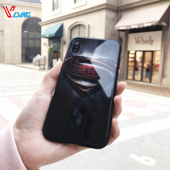 For iphone X mobile phone glass shell personality for iphone 6s 7plus6splus 8plus for male phone case Tide card anti-fall iPhone
