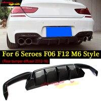 f06 f12 f13 F06 Rear bumper diffuser For BMW 6 Series 640i 640d 650i 650d m6 Style carbon fiber m tech m sport & m6 car 2012 16