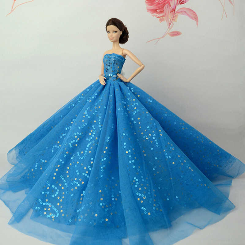 1pc Best Gift For Girl Doll 2018 Princess Wedding Dress Noble Party Gown For Girl Doll Fashion Design Outfit Aliexpress,Indian Ladies Dresses For Wedding Party