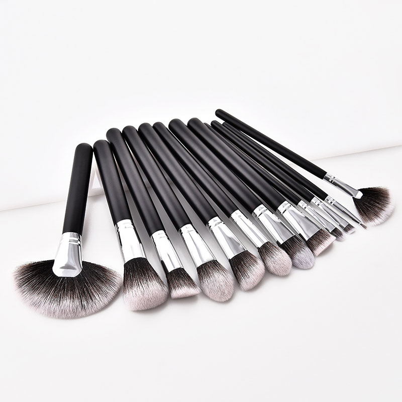 12Pcs/Set Beauty Professional Makeup Brush Set Make up Brush Tools kit Eye Shader Liner Foundation Contour Makeup Brushes 30 msq 15pcs professional makeup brushes set foundation fiber goat hair make up brush kit with pu leather case makeup beauty tool