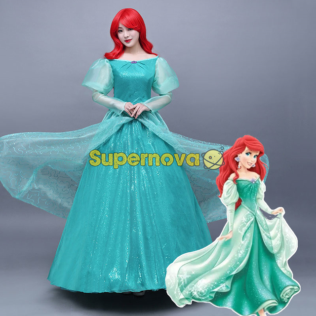 Umsvzp Cosplay Princesa La Ariel Disfraz Vestido Sirenita Cxedob