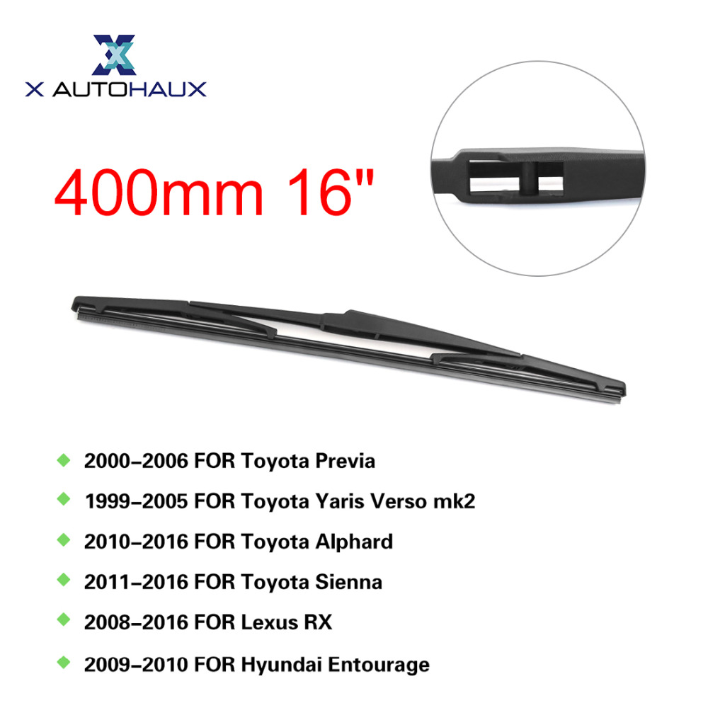 X AUTOHAUX 400mm 16 Rear Window Windshield Car Wiper Blade For Toyota Alphard For Sienna ...