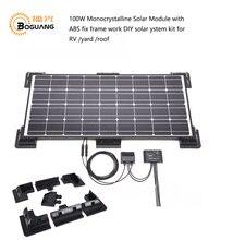 Solarparts 1×100 Вт монокристаллический солнечный модуль ABS исправить кадр солнечных батарей Фабрика дешевые продажи 12 В Солнечный панели RV/морской/лодка