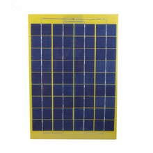 SUNWALK 10W 18V Solar Panel with DC Output and Battery Alligator Clip for DIY system 12V Charger