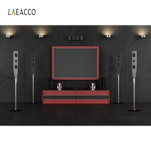 Laeacco 3D Speaker TV Stage Scene Backdrop Portrait Photography Background Customized Photographic Backdrops For Photo Studio