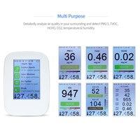 KKMOON цифровой Air Quality детектор Крытый/Открытый HCHO и TVOC тестер CO2 метр монитор тестер с Перезаряжаемые Батарея