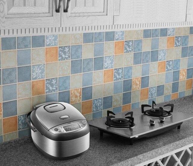 PVC Wall Sticker Cucina Mosaico Adesivi Per Piastrelle Bagno ...