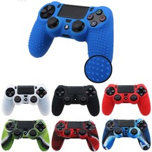 7 lots Silicone Camo Protective Skin Case For Sony Dualshock 4 PS4 DS4 Pro Slim Controller Thumb Sticks Grips Caps
