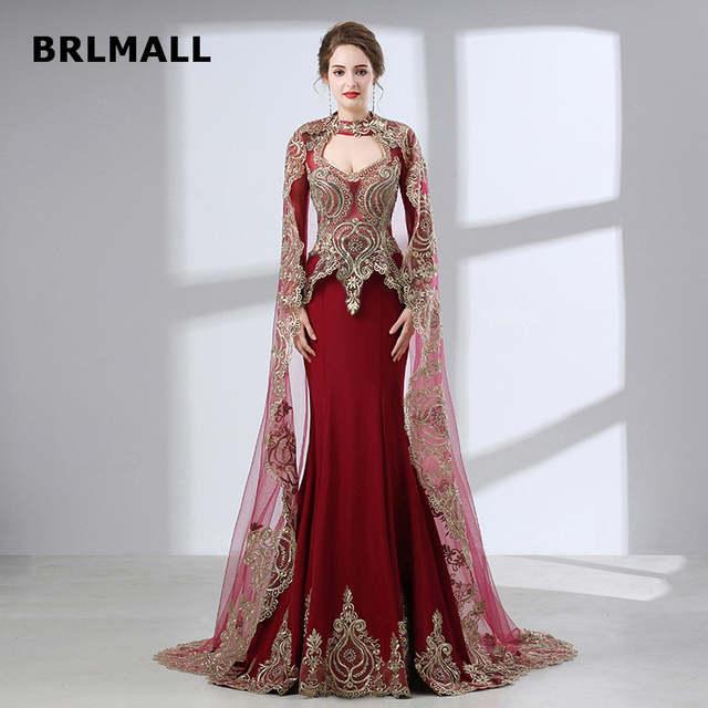 59e9e7e4e Online Shop 2019 Vintage India Wedding Dresses High Neck Mermaid Plus Size  Watteau Train Tulle Lace Applique Formal Bridal Gowns