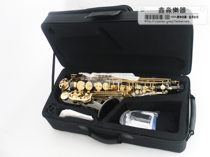 High quality SUZUKI saxophone YH0070937 E flat alto saxophone black nickel TOP font b musical b