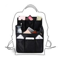 Mochila insertar bolsas interior bolsa de almacenamiento de gran capacidad organizador de viaje para pañales hombros varios acabado bolso organizador