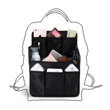 배낭 삽입 가방 내부 저장 가방 기저귀 어깨를위한 대용량 여행 주최자 sundries 마무리 핸드백 주최자