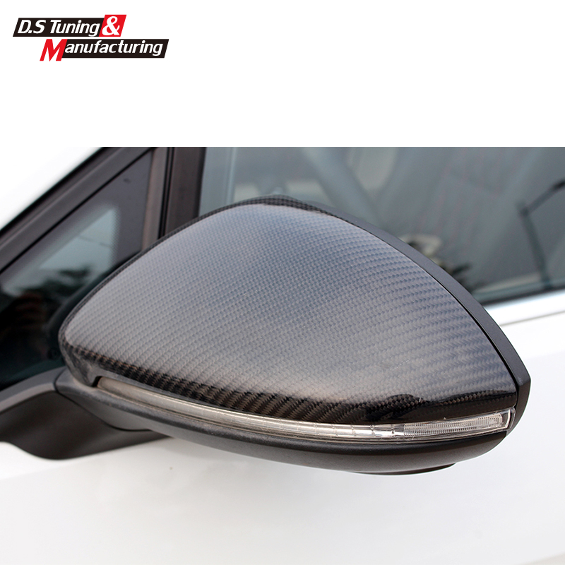 цена на Replacement part carbon fiber rear view side door mirror cover for Volkswagen VW golf MK7 Lamando 2014 2015 2016