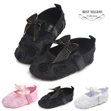 2017 New design PU leather Baby princess shoes girls First Walkers Soft Bottom Fashion Newborn Shoes Bebe girls