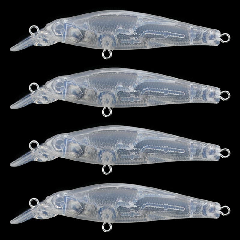 Minnow Fishing <font><b>Lure</b></font> <font><b>Blanks</b></font> 10pcs/lot 8.8cm 7g Unpainted Minnow <font><b>Lure</b></font> Bodies Plastic Clear DIY Hard <font><b>Lure</b></font> Artificial Bait image