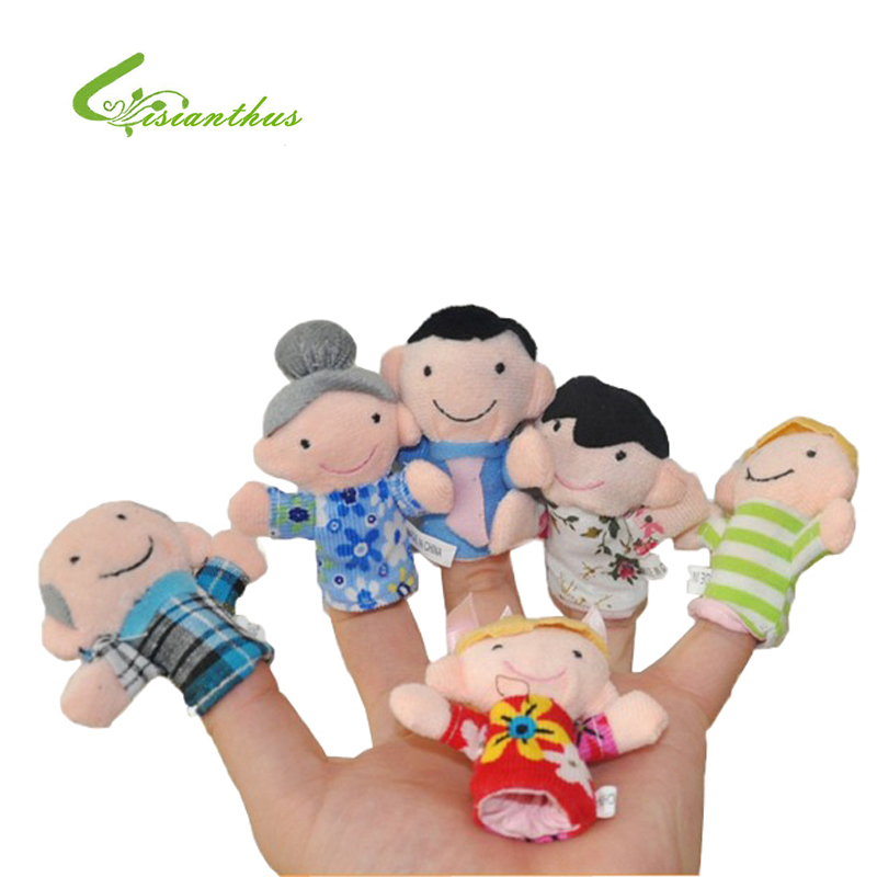 Finger Puppets Happy Family Baby Toys Storytelling Props Family Member Delighted Baby Kids Puppets Free Drop Shipping Wholesale