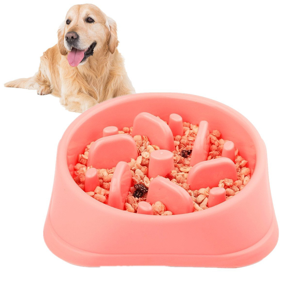 Pet Slow Feeder Dog Bowl Non-slip Cat Feeding Pet Bloat Stop Dog Eating Water Bowl For Aggressive Dogs