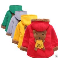 Children Winter Wadded Jacket Male Female Cotton Padded Coats Children S Clothing Plus Velvet Thickening Thermal