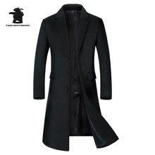 Neue männer Wolle Langen Mantel Winter Marke Mode Hohe Qualität Plus Größe Wolle Parka Mantel Für Männer Mantel Casaco Masculino C42F1810