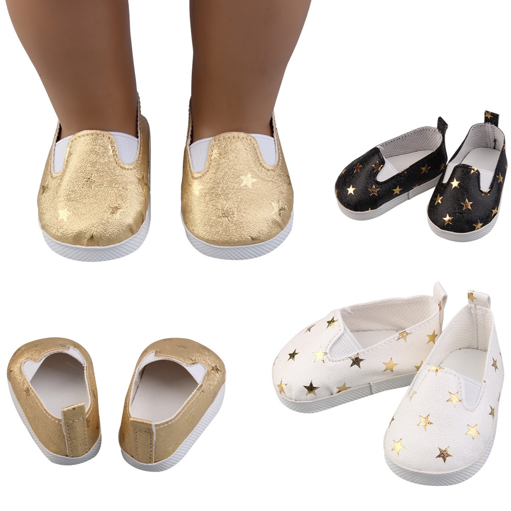 Glitter Doll Shoes Star Dress Shoe For 18 Inch Our Generation American Girl Doll glitter doll shoes star dress shoe for 18 inch our generation american girl doll