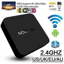 MXQ 4K TV BOX Android 7.1 Quad Core 1GB+8G 2.4G WiFi Full HD