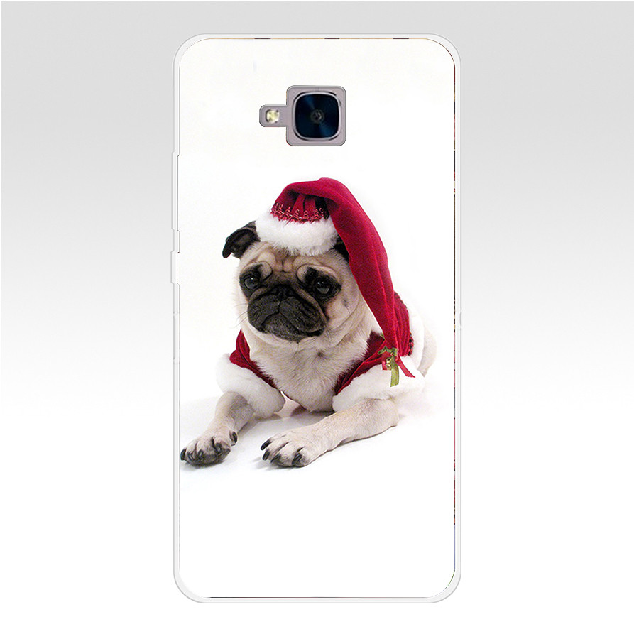1Mery Christmas Hard Transparent Cover For Huawei Honor 5C No Without The Fingerprint Hole Version For RU
