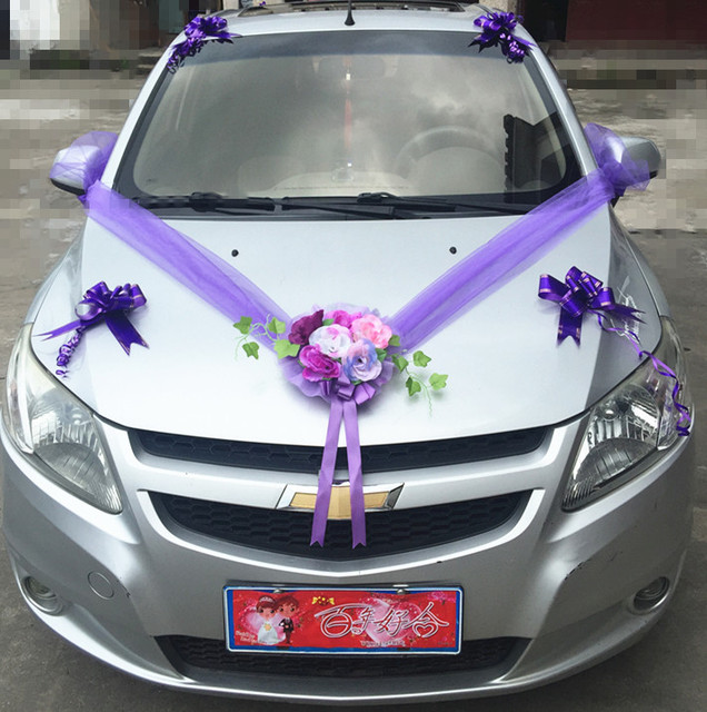 Wedding car flower decoration car floats decorated car simulation wedding car flower decoration car floats decorated car simulation flower set wedding car decorative flowers wreaths junglespirit Image collections