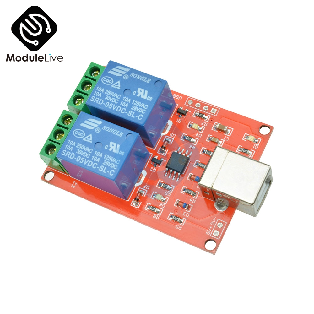 Two Channel 5V Relay Module USB Control Switch / 2 Way 5V Relay Module / Computer Control Switch / PC Intelligent Control cinzia rocca пальто