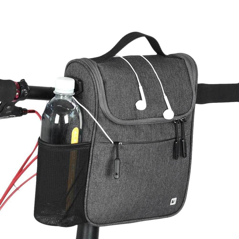 RHINOWALK Waterproof Bike Bag Large Capacity Handlebar Front Tube Bag Bicycle Pocket Shoulder Backpack Cycling Bike Accessories