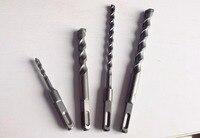 Gambo quadrato 4 Slot Rotary Hammer Impact Drill Bit 18/20/22/25/28/30/32/35*350mm Muro di cemento cemento costruzione drill bit