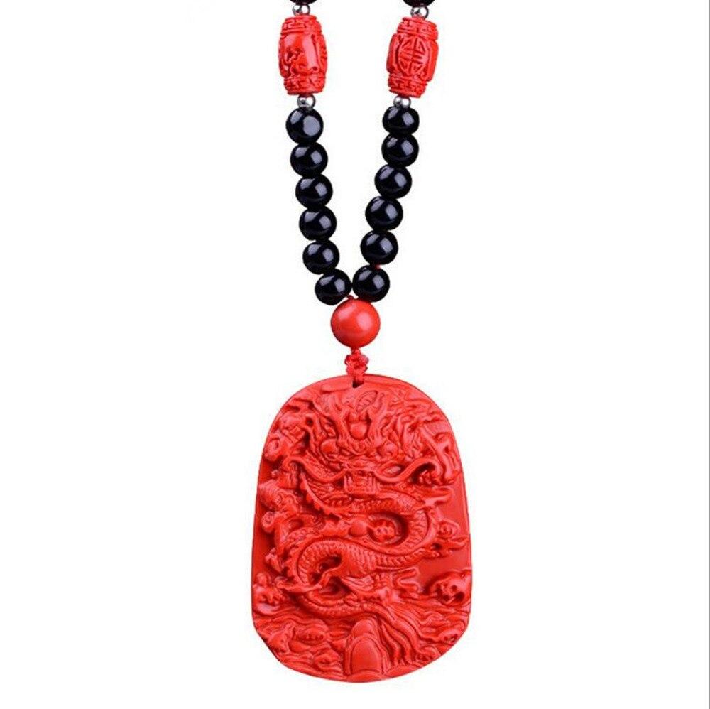 Fengshui ожерелье драконы резные мужские и женские удачи ювелирные изделия для улучшения здоровья и богатства W1828