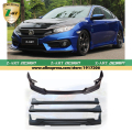 Z-ART Car body kit for Honda Civic 2016 body kit car modification for new Honda Civic 2016 ABS body kit DHL/TNT/FEDEX Shiping