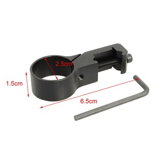 Image 5 - Laser Scope Side Mount Airsoft Hunting Rifle Scope Mount Base Paintball Tactical Flashlight Clip Holder Hunting Accessories