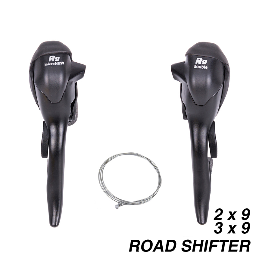 R9 2x9 3x9 Double 9 Speed Shifters MICRONEW Bicycle Shift Lever Road Bike Parts Derailleur Compatible for Shimano west biking bike chain wheel 39 53t bicycle crank 170 175mm fit speed 9 mtb road bike cycling bicycle crank