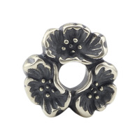 Cherry Blossom Septum Charm Bead Fits Authentic Troll Beads Bracelet Silver 925 Charms Original Sterling Silver
