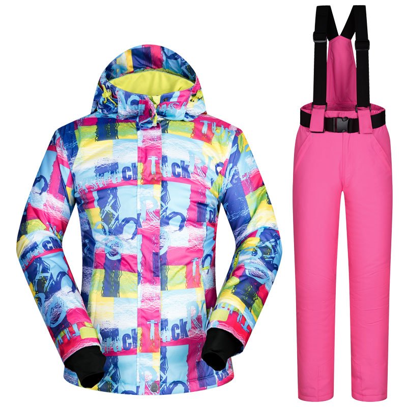 2017 N winter Snow suit Sets Women skiing snowboard ski suits clothes windproof waterproof outdoor sports jackets and pants gsou snow ski suit for women skiing suit winter outdoor sports clothes snowboard set camouflage ski jacket and pants multicolor