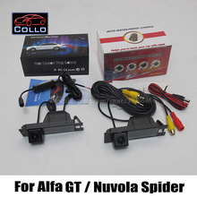 Car Rear View Camera + Laser Rear Fog Lamp / For Alfa Romeo GT / Nuvola Spider / 2 In 1 Collision Avoidance Active Safety System