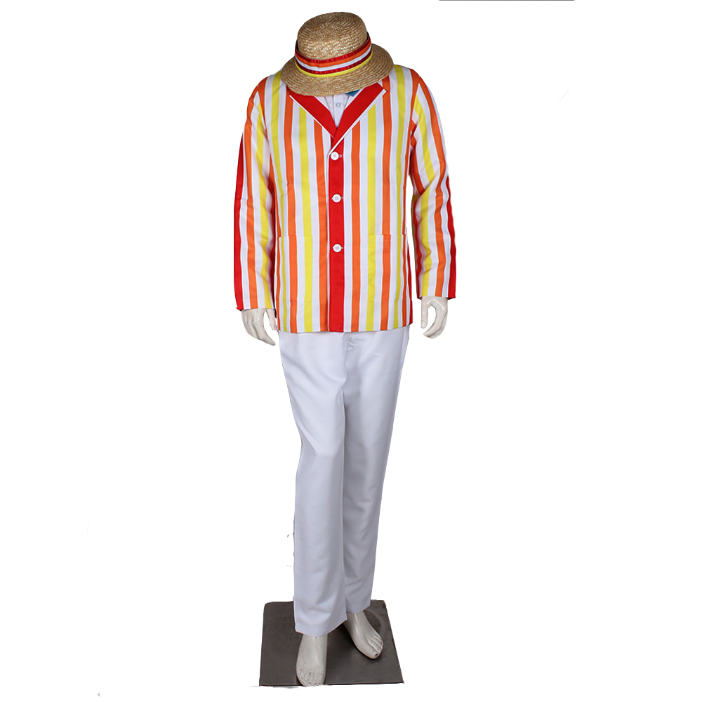 Mary Poppins Bert Costume Outfit For Adult Men's Party Halloween Cosplay Clothing With Hat Custom Made