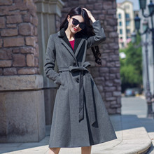 2016 New Arrival Fashion Women's Winter Wool Jacket Coat Single Breasted Long Sleeve Slim Outwear S-4XL Female Overcoat Oversize