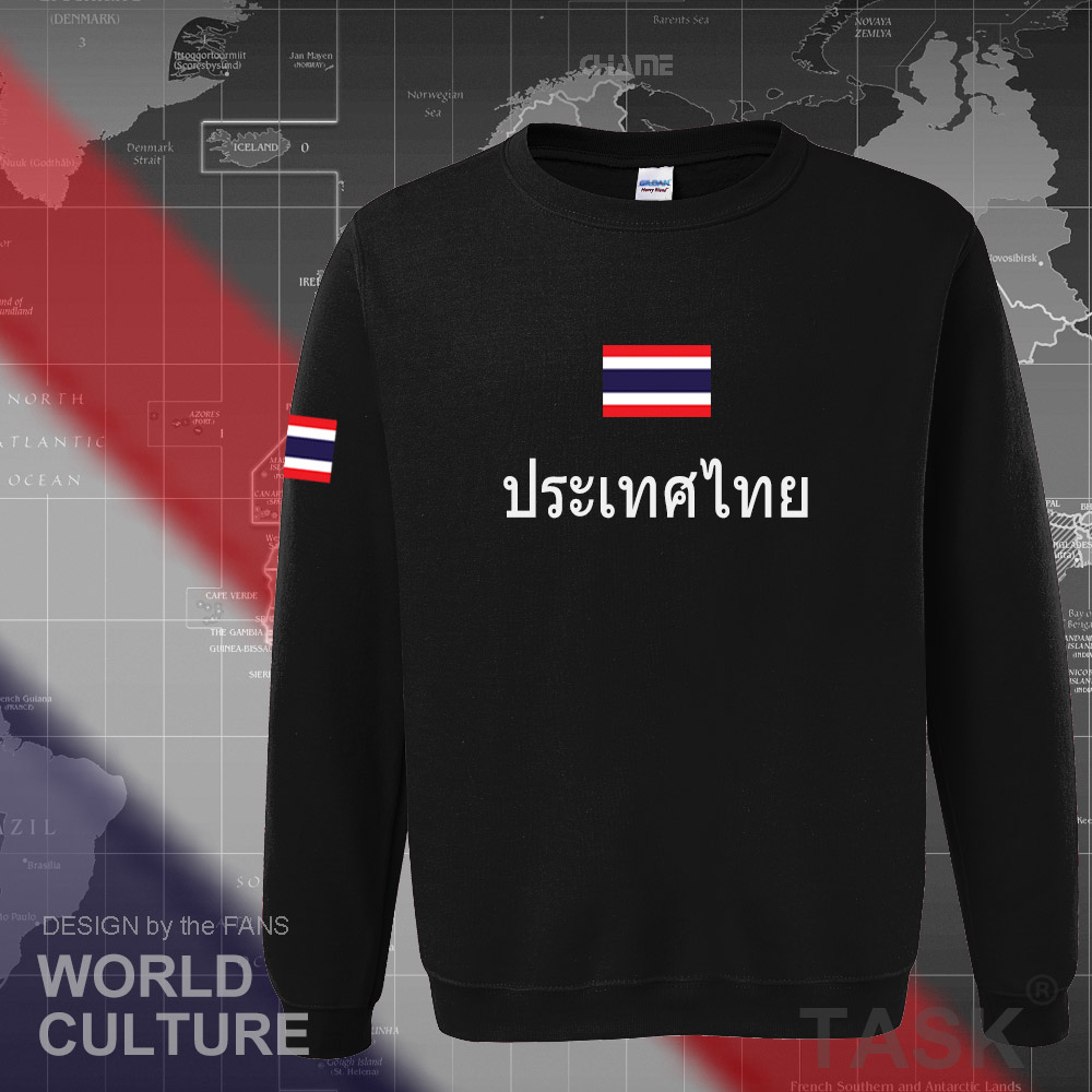 Thailand THA Thai Siamese mens hoodie 2017 sweatshirt jerseys polo sweat new streetwear tracksuit nations fleece clothing flags