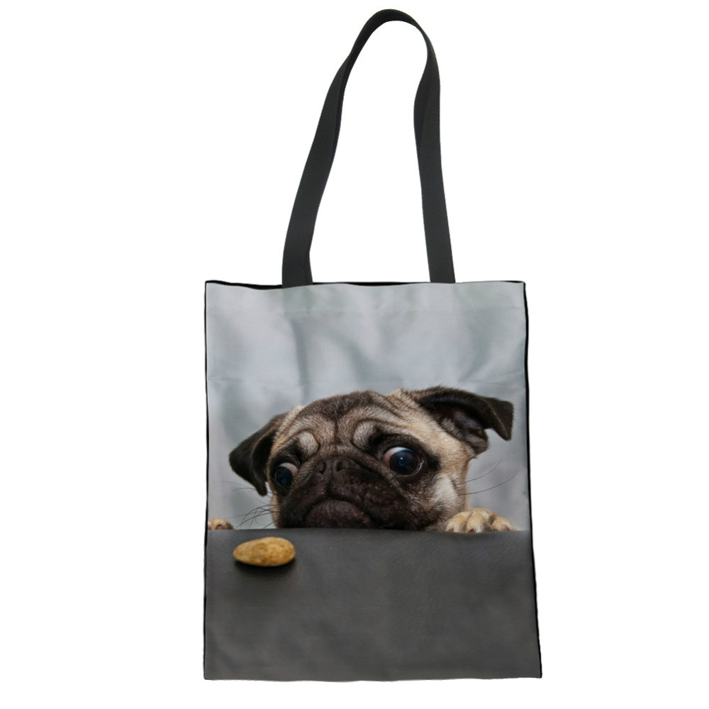 Cute Funny Pug Dog Wristlet Clutch Wallet for Women Girls Portable Tote Purse Travel Purse Wristlet Tote Bag Small Clutch Organizer Wallets Ladies Clutch Long Purse